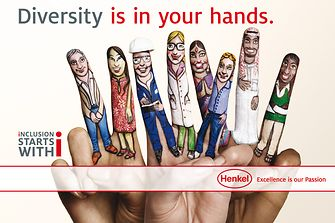 "Campaign motif ""Diversity is in your hands"" – painted fingers"
